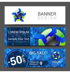 Set of horizontal banners for your business ad to vector