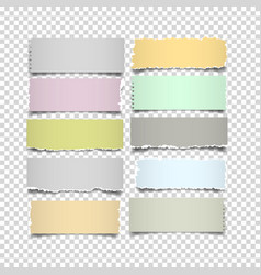 set of notes paper in pastel colors on vector image