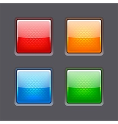 Set of realistic color glossy buttons vector image