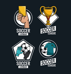Set of soccer emblems vector