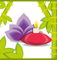 Spa floral medicine with candle vector