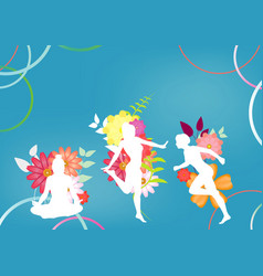 sport fitness female silhouette background vector image