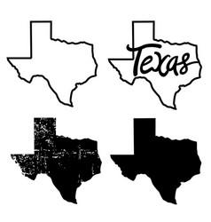 texas map texas maps black vector image