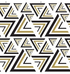 Triangle black white golden seamless pattern vector image