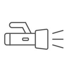 underwater torch thin line icon diving underwater vector image