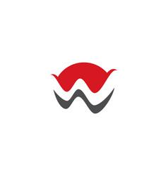 w letter logo business vector image