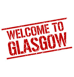 Welcome to glasgow stamp vector