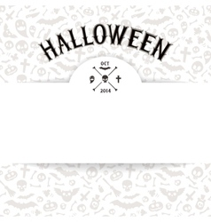 White Paper Sheet on Light Halloween Background vector