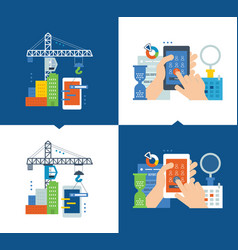 development of application and software research vector image vector image