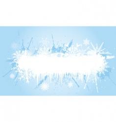 grunge snowflake vector image