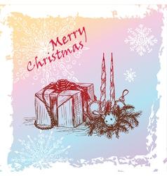 hristmas gift vector image vector image