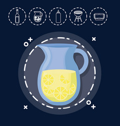 lemonade for family summer picnic vector image vector image