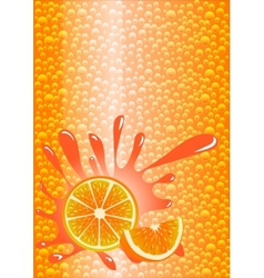 Orange lemonade vector image