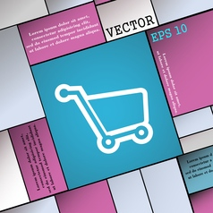 Shopping cart icon sign Modern flat style for your vector image