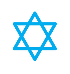 star of david icon on white background star of vector image