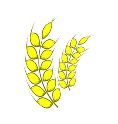 Two stalks of ripe barley icon cartoon style vector image vector image