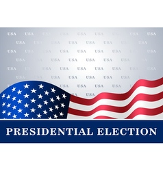 american flag background Presidential Election vector image vector image