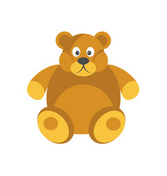 cartoon chubby brown bear with funny face isolated vector image vector image