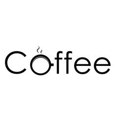 logo coffee vector image