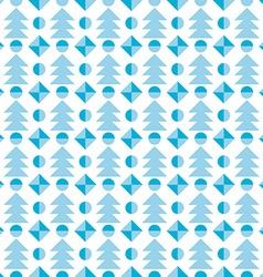Christmas tree seamless pattern festive vector image vector image