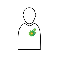 eco flower in man vector image vector image