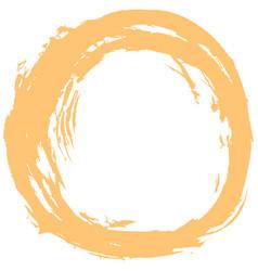 yellow brushstroke circular shape vector image vector image