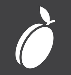 Apricot solid icon fruit and diet vector