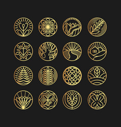 set of logo design templates and emblems in vector image vector image