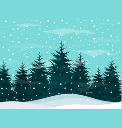 snow in woods vector image vector image