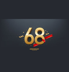 68th year anniversary background vector