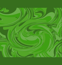 abstract liquid marble texture background in green vector image