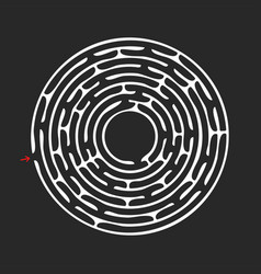 Abstract round maze an educational game for vector