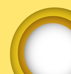 Abstract yellow background with copy space vector image