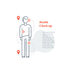 Annual medical examination regular health checkup vector