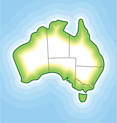 Australia map simplified contoured vector