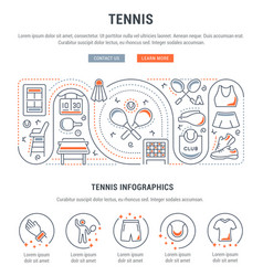 Banner tennis vector