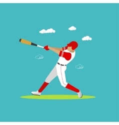 Baseball player with equipment Sport concept vector