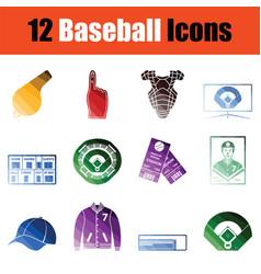 Baseballl icon set vector