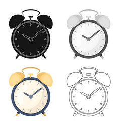 Bedside clock icon in cartoon style isolated on vector