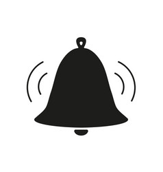 bell voice black icon vector image