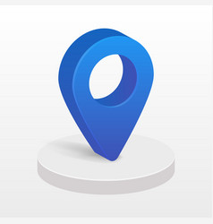 blue 3d pointer map isolated on transparent vector image