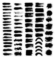 Brush strokes set big vector