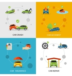 Car Insurance Set vector image