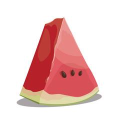 cartoon piece of watermelon slice of watermelon vector image