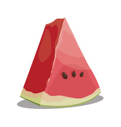 cartoon piece watermelon slice watermelon vector image