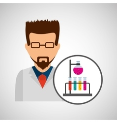 Character scientist chemistry laboratory vector