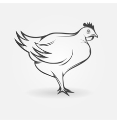 Chicken logo or broiler symbol vector