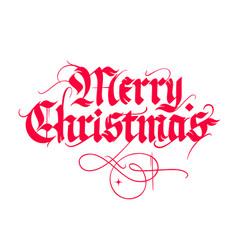 Christmas vintage calligraphy vector