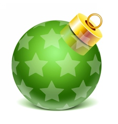 christmass glass toys vector image
