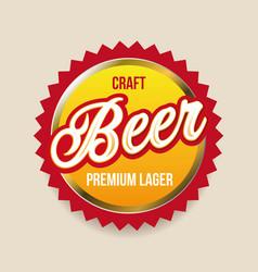Craft beer label badge vector